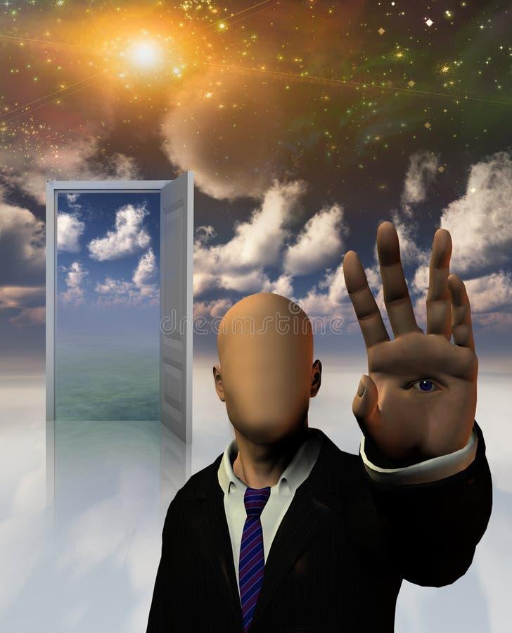 O sonho sem cara ilustração stock