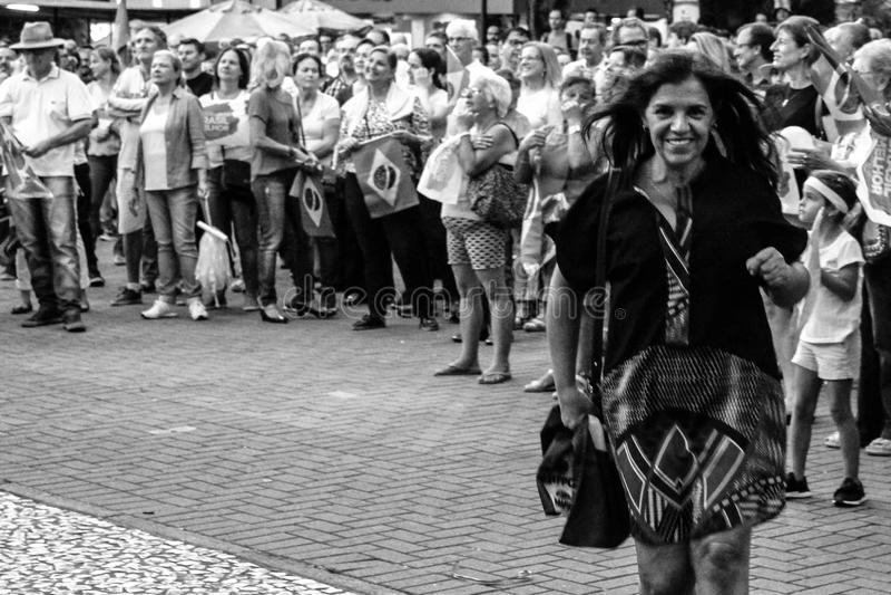 O sorriso da democracia foto de stock royalty free
