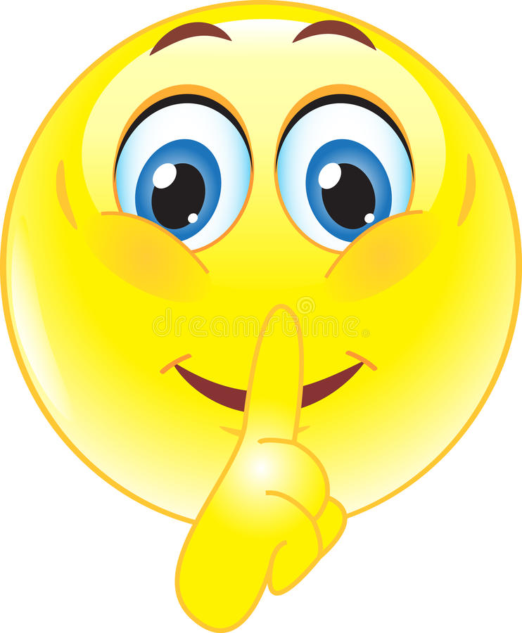 O sorriso oferece silencioso ilustração royalty free