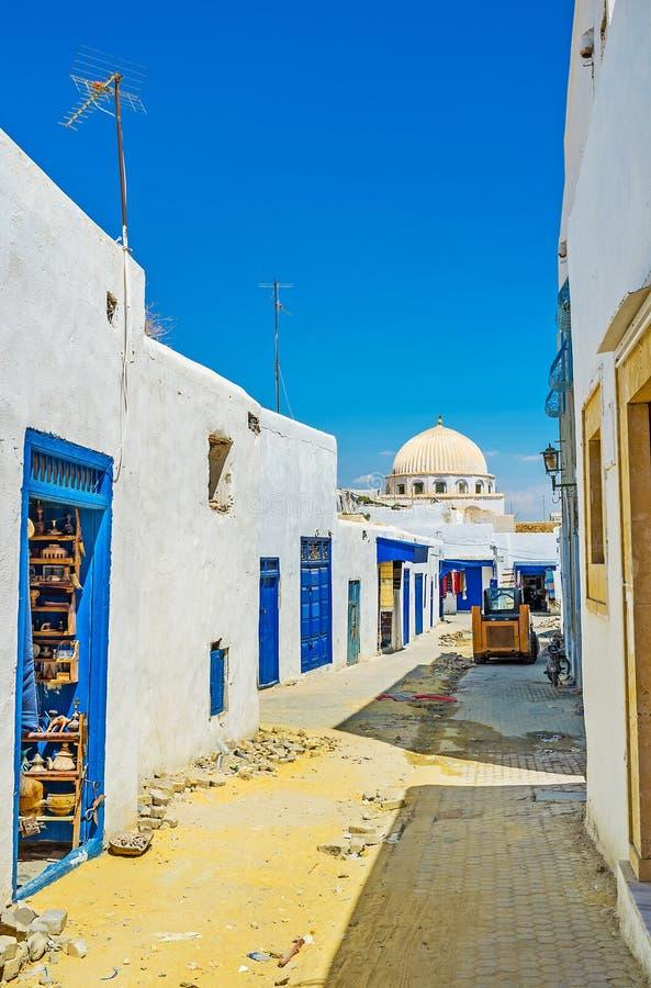 O souk velho em Medina, Tunísia fotografia de stock