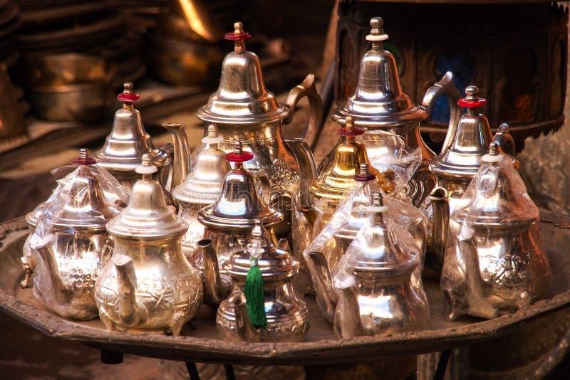 O Souks em C4marraquexe, Marrocos, O mercado tradicional o maior em África imagem de stock royalty free