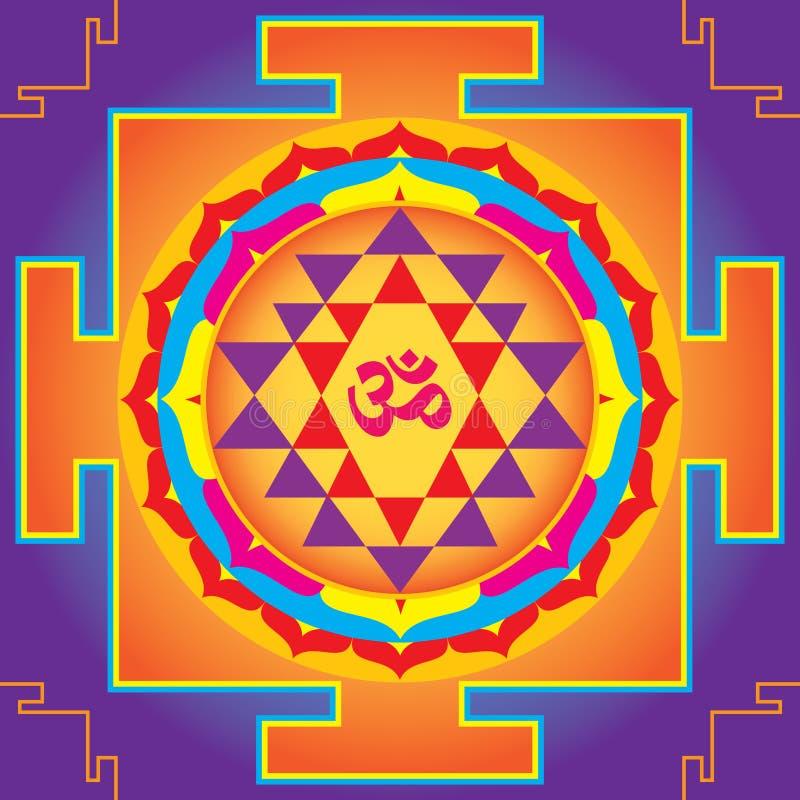 O Sri Yantra. ilustração do vetor