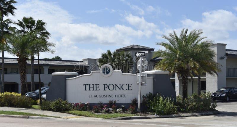 O St Augustine Hotel de Ponce, St Augustine, Florida fotografia de stock