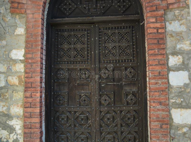 O St Clement Church em Ohrid - mãe santamente da igreja de Peribleptos do deus imagens de stock royalty free