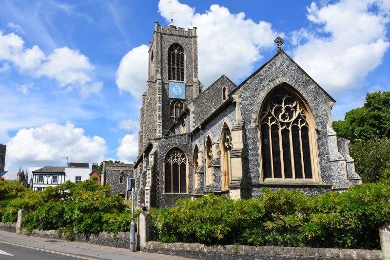 O St Giles Church, Norwich City centra-se, Norfolk, Inglaterra foto de stock royalty free
