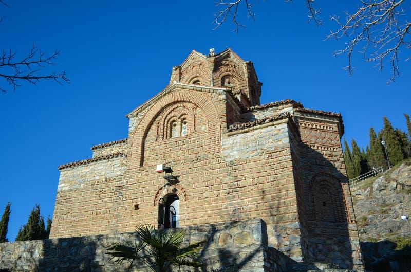 O St John em Kaneo em Ohrid imagens de stock