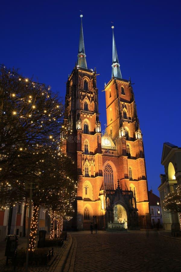 O St John histórico Baptist Catherdral em Wroclaw, Polônia imagem de stock