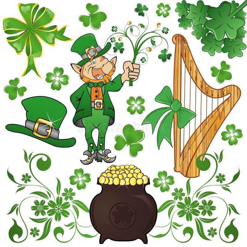 O St. Patrick coleta ilustração stock