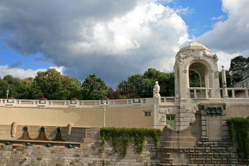 O stadtpark famoso em Viena imagens de stock