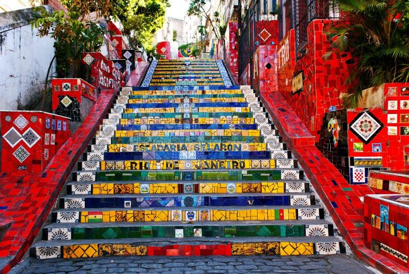 O stairway Selaron fotografia de stock royalty free