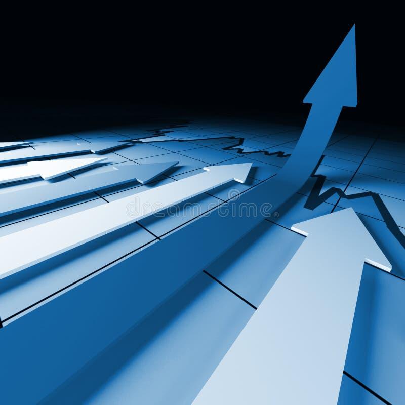 O stat financeiro cresce ilustração do vetor