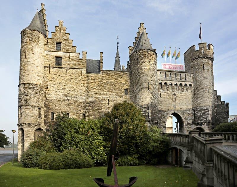 O Steen, região de Antuérpia, Flanders, Bélgica imagens de stock royalty free