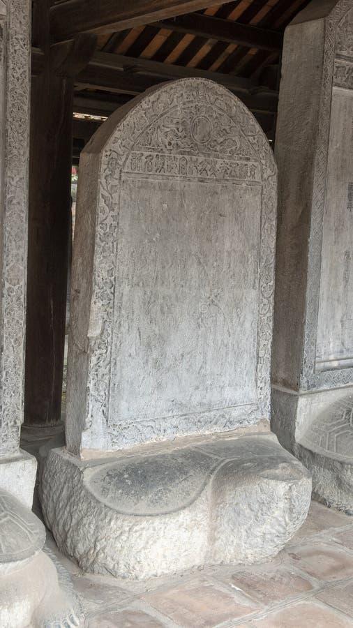 O Stela do doutor, terceiro pátio, templo da literatura, Hanoi, Vietname fotos de stock