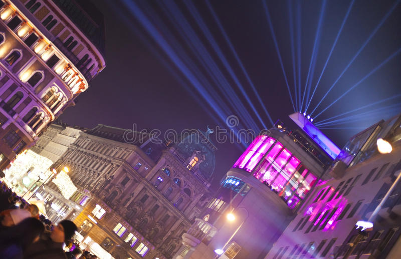 Stephansplatz de Viena na véspera de Ano Novo foto de stock royalty free