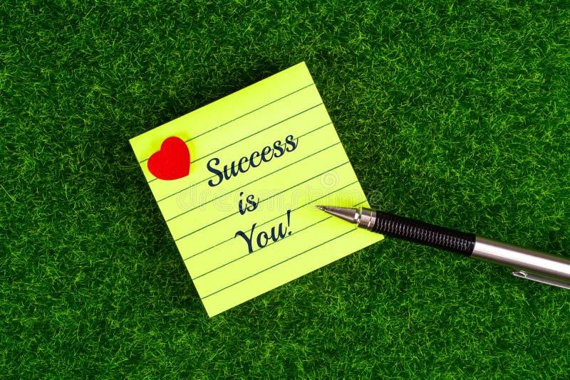 O sucesso é você foto de stock royalty free