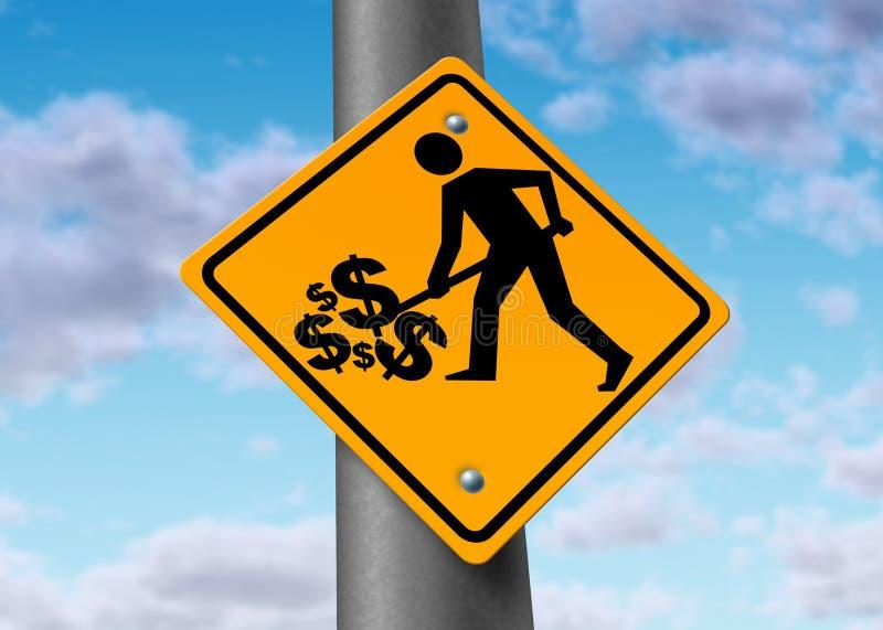 O sucesso recompensa o sinal dos investimentos da riqueza ilustração stock