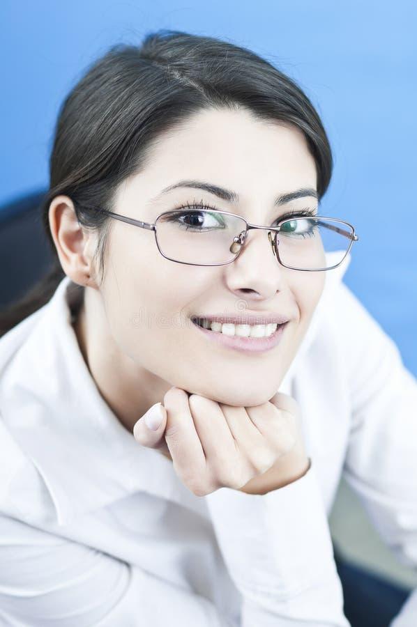 O sucesso vem com um sorriso fotos de stock