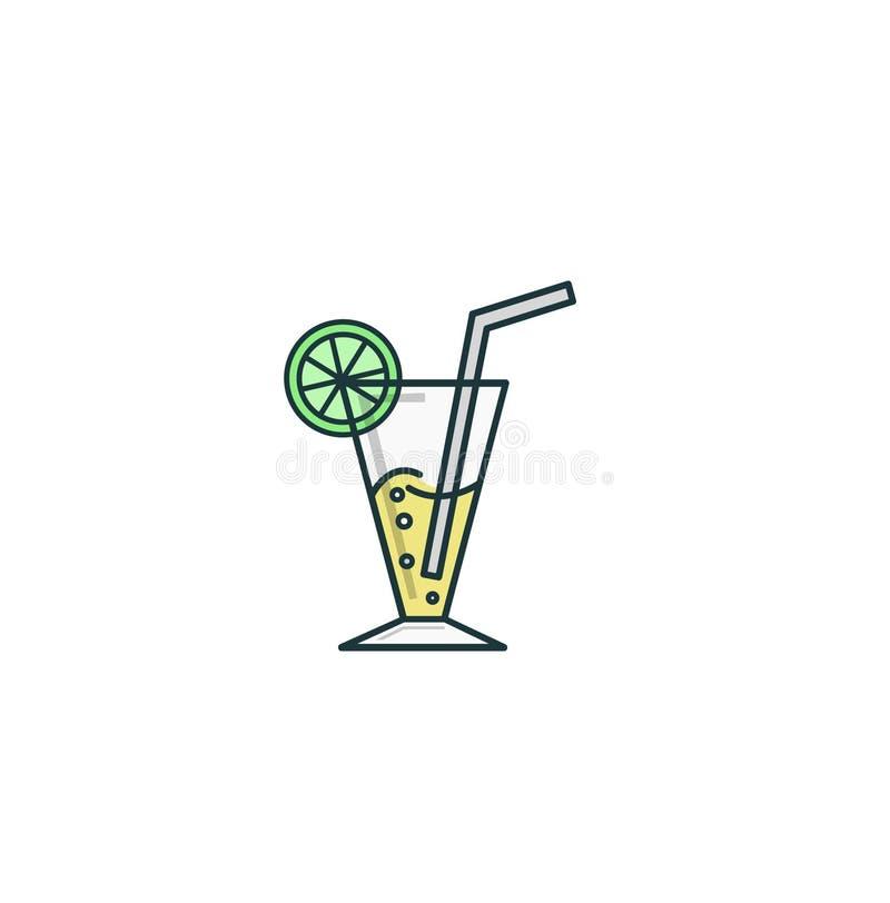 O suco de lima é muito fresco e saboroso ilustração do vetor