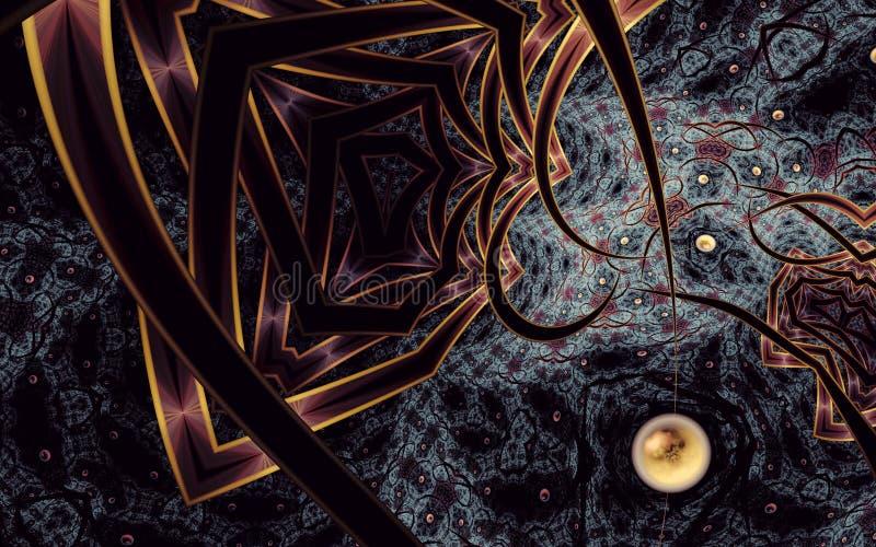 O sumário alienou a arte do fractal do reino 2 ilustração stock