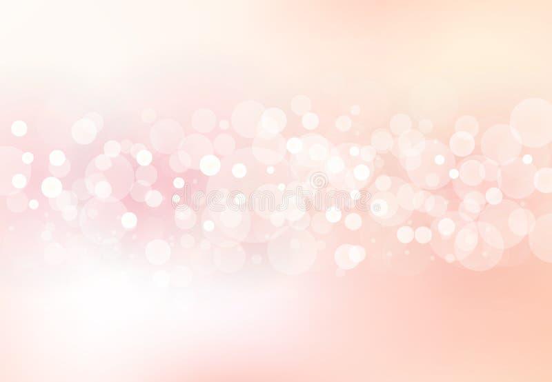 O sumário borrou o bokeh macio do foco do conceito cor-de-rosa brilhante do fundo da cor ilustração do vetor