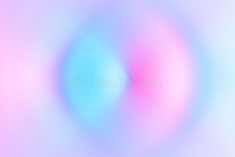 O sumário borrou cores pastel radiais do néon do espectro do fundo do redemoinho colorido Onda sadia sônico da ondinha da energia ilustração royalty free