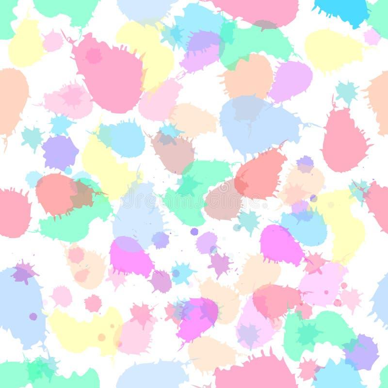 O sumário colorido bonito espirra o teste padrão sem emenda com a textura dourada do brilho Fundo, textura, matéria têxtil, tela ilustração do vetor