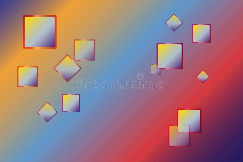 O sumário colorido esquadra a ilustração geométrica do vetor do fundo ilustração royalty free