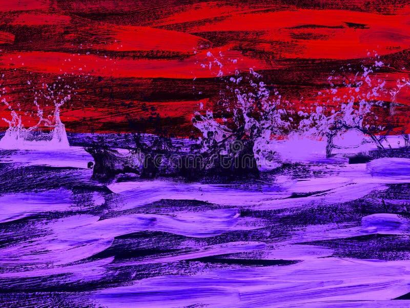 O sumário criativo pintou o fundo, papel de parede, textura Arte moderna Arte contemporânea fotografia de stock royalty free