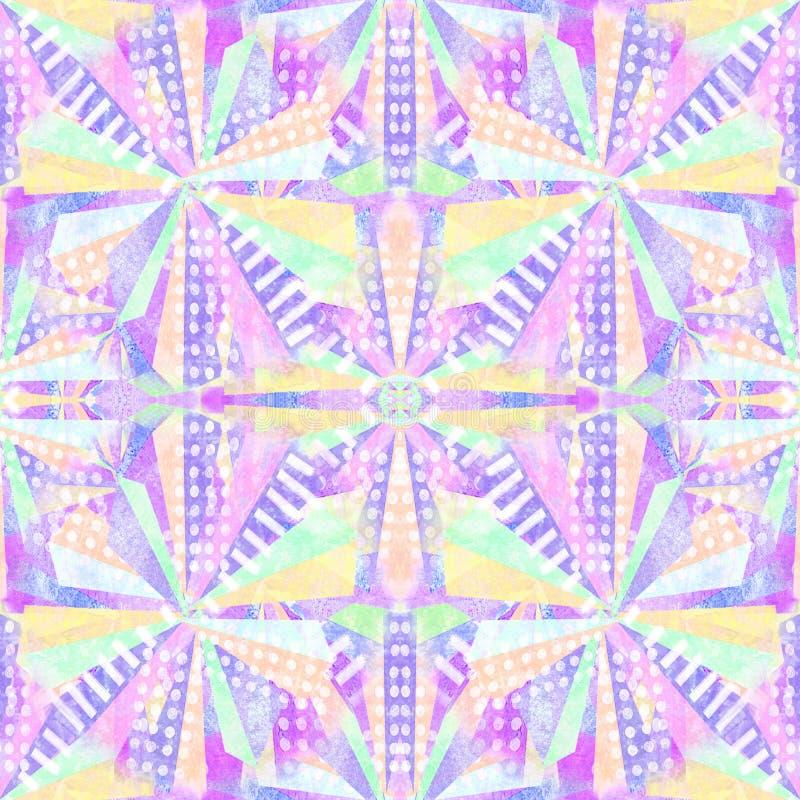 O sumário dá forma ao teste padrão sem emenda Repita o fundo psicadélico geométrico do mosaico Efeito do caleidoscópio ilustração do vetor