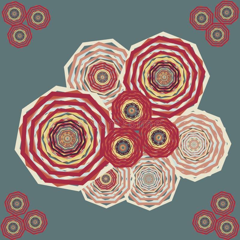 O sumário da flor do vetor ornaments o bordado ilustração do vetor