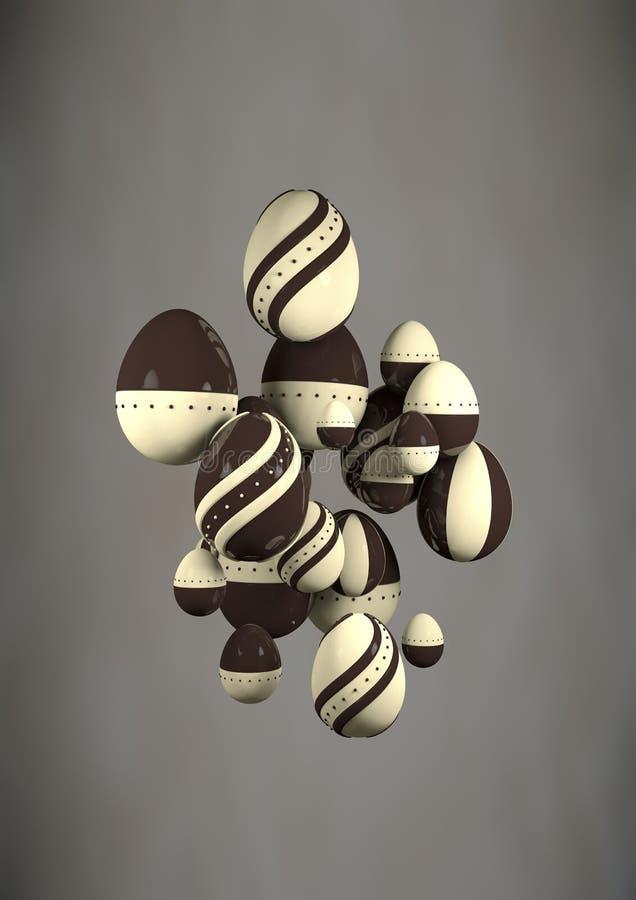 O sumário Eggs o chocolate imagem de stock