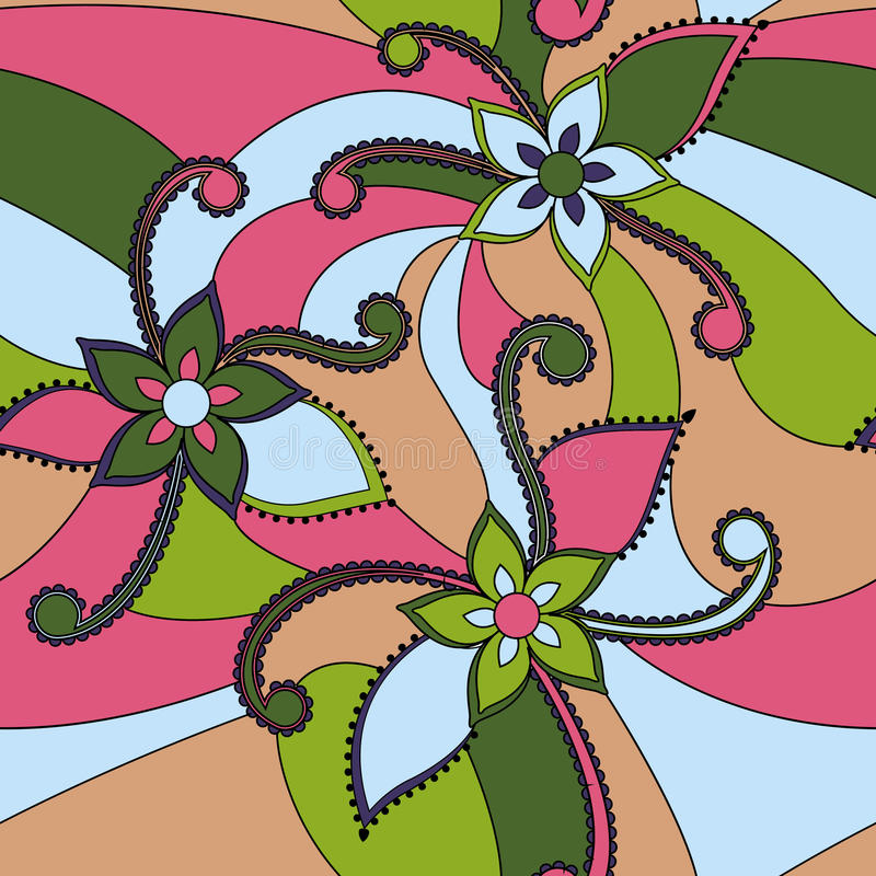 O sumário floresce colorido ilustração royalty free