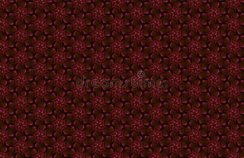 o sumário floresce o fundo geométrico com triângulos, textura de mosaico de linhas Br alaranjado marrom azul vermelho do cruzamen foto de stock royalty free