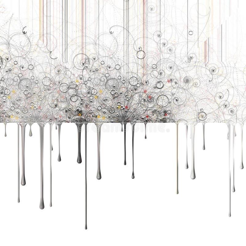 O sumário gosta de partículas atômicas ilustração stock
