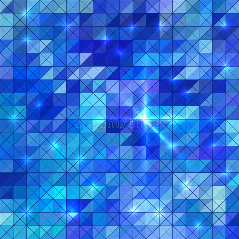 O sumário ilumina o fundo do disco do preto azul ilustração stock