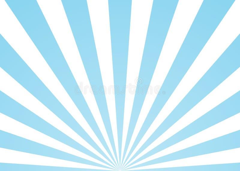 O sumário irradia o fundo azul ilustração royalty free