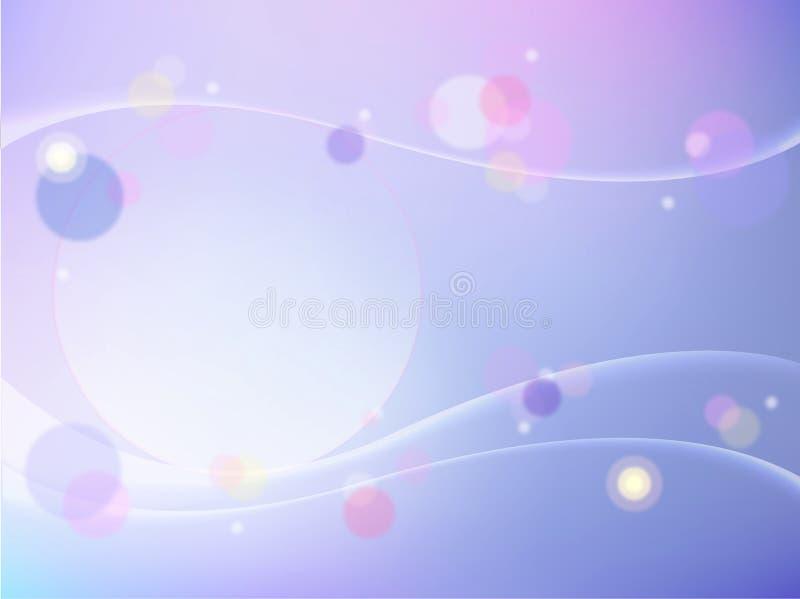 O sumário roxo borbulha termas cosméticos da saúde da beleza do molde da disposição de projeto do inseto do folheto da tampa de v ilustração stock