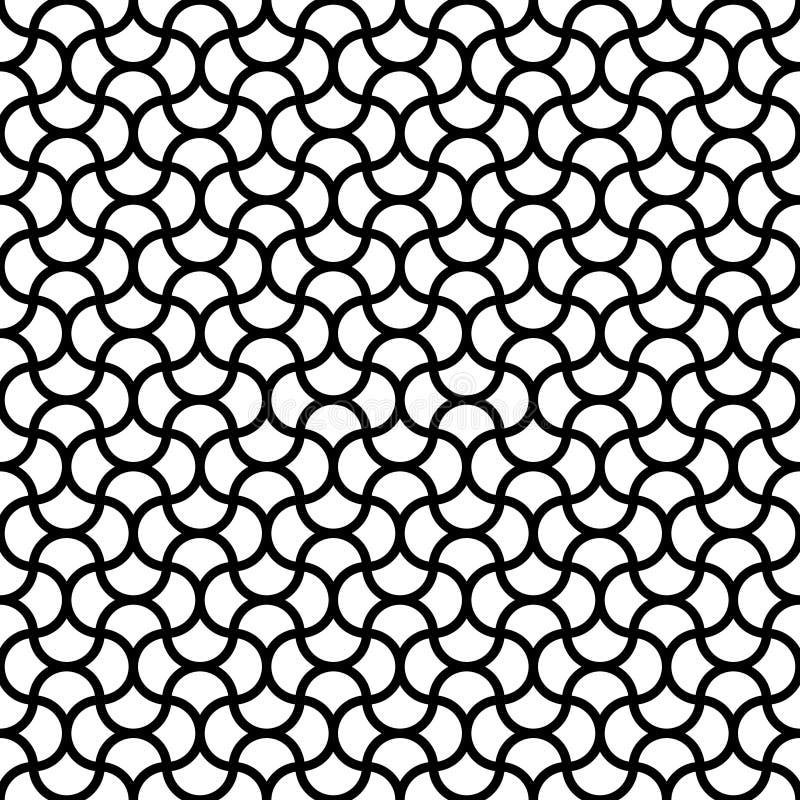 O sumário sem emenda do teste padrão acena preto e branco ilustração do vetor
