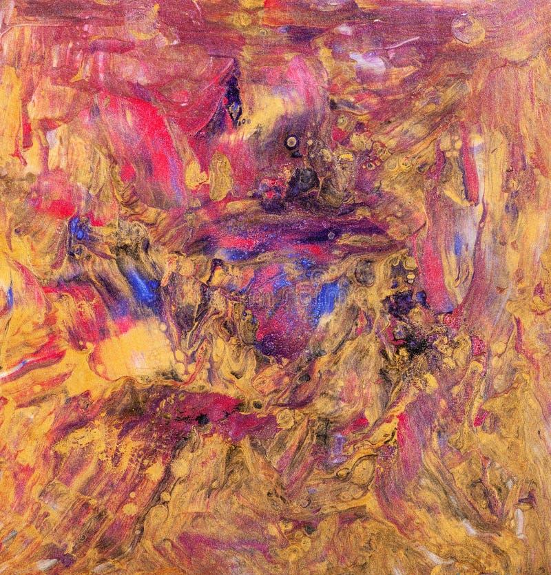 O sumário toca a pintura na técnica acrílica fluida ilustração do vetor