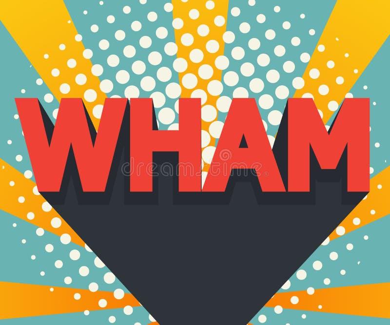 O sumário wham pop art, fundo da banda desenhada ilustração stock