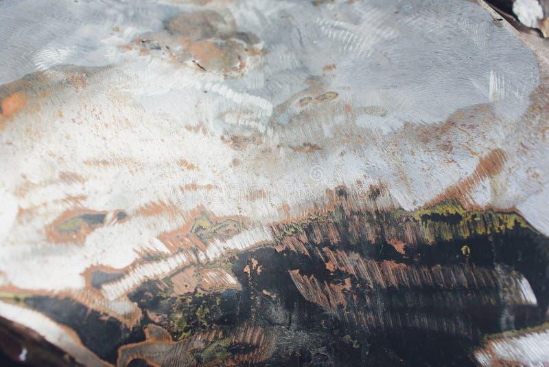 O sum?rio corroeu o fundo oxidado colorido do metal, textura oxidada do metal fotos de stock royalty free
