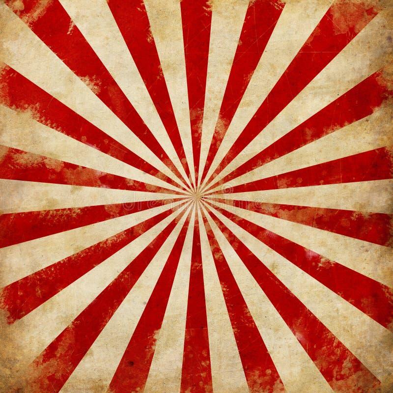 O Sunburst do circo do vintage irradia a ilustração ilustração royalty free