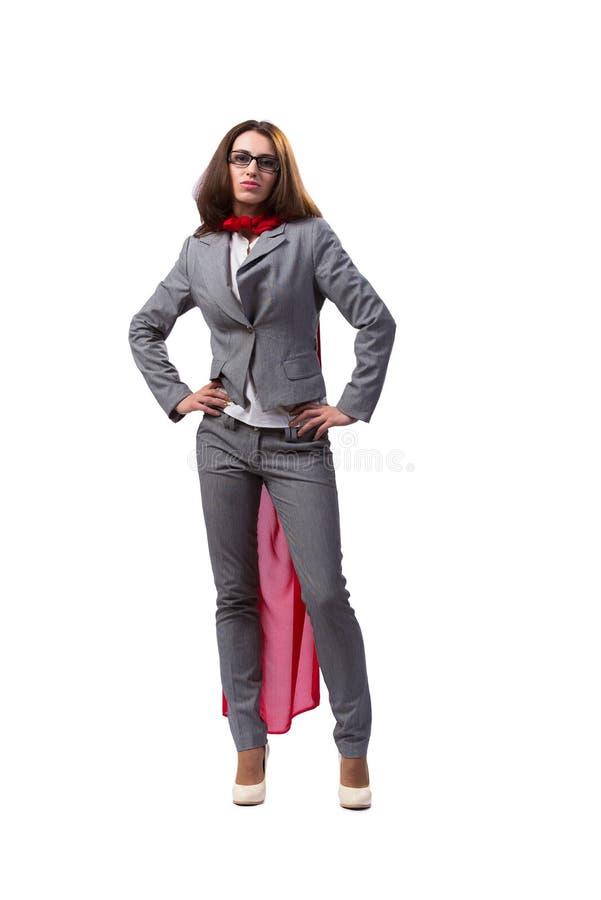 O superwoman novo isolado no branco imagens de stock