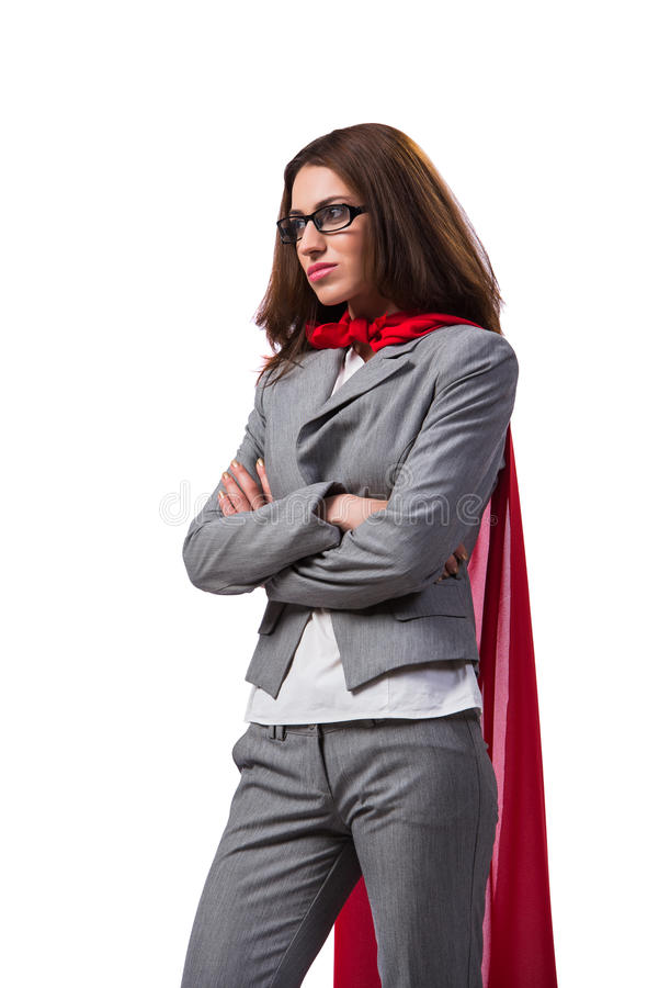 O superwoman novo isolado no branco fotos de stock