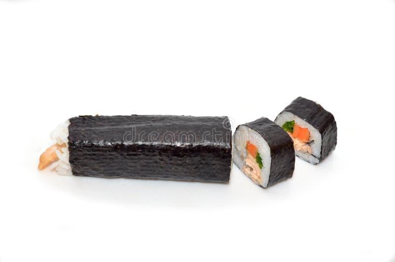 O sushi é um alimento japonês imagens de stock