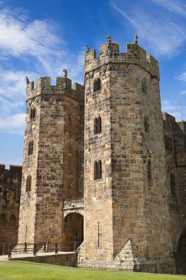 O sustento no castelo de Alnwick imagens de stock