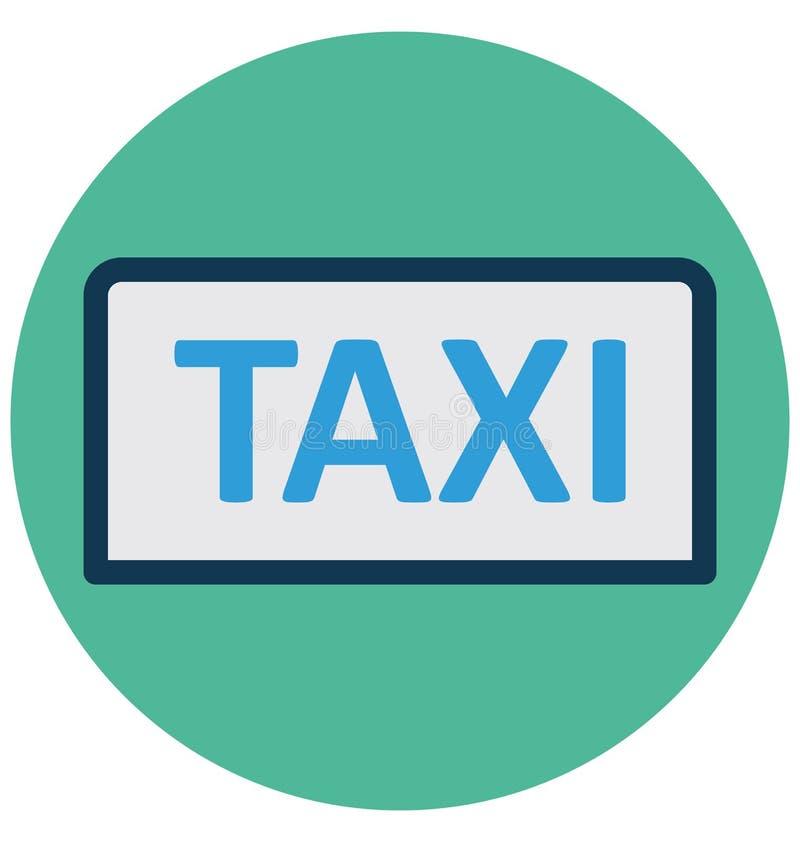 O táxi, transporte público isolou o ícone do vetor que pode facilmente alterar ou editar ilustração stock