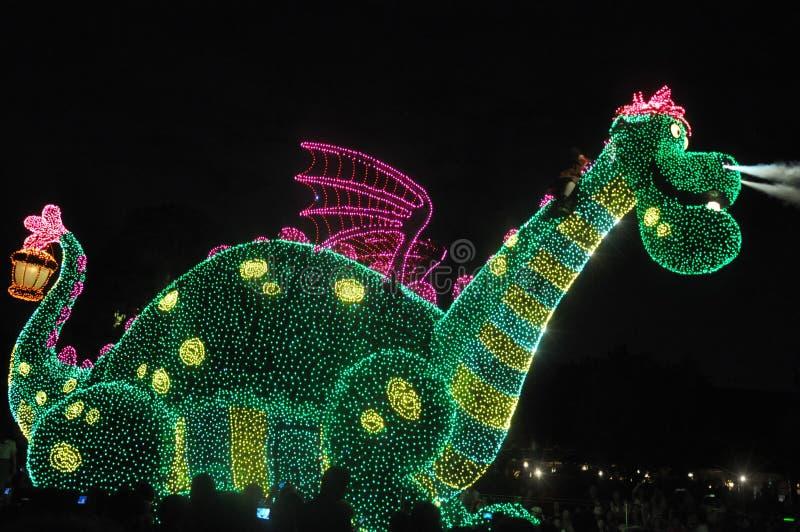 O Tóquio Disney aterra a parada elétrica. fotografia de stock