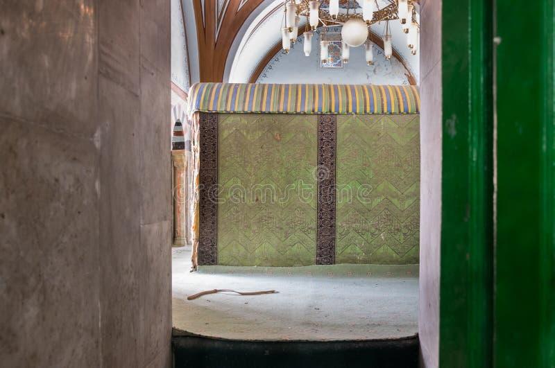 O túmulo do interior de Abraham da caverna de Machpelah em Hebron ou túmulo dos patriarcas israel imagens de stock
