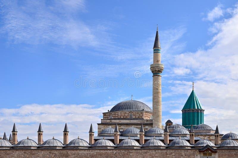 O túmulo famoso do ` s de Sufi Mevlana ilustração stock